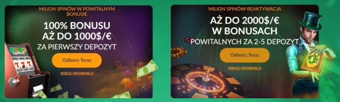 Bonusy kasyn online