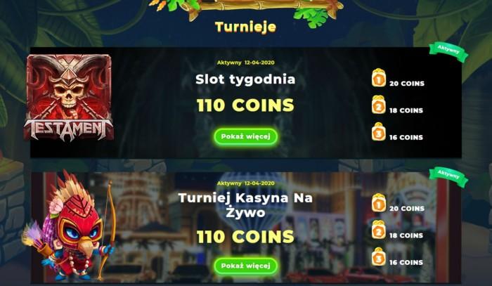 Turnieje kasyn online