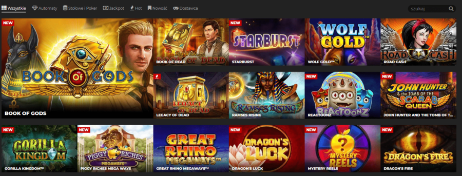 sekcja kasyna Energy Casino