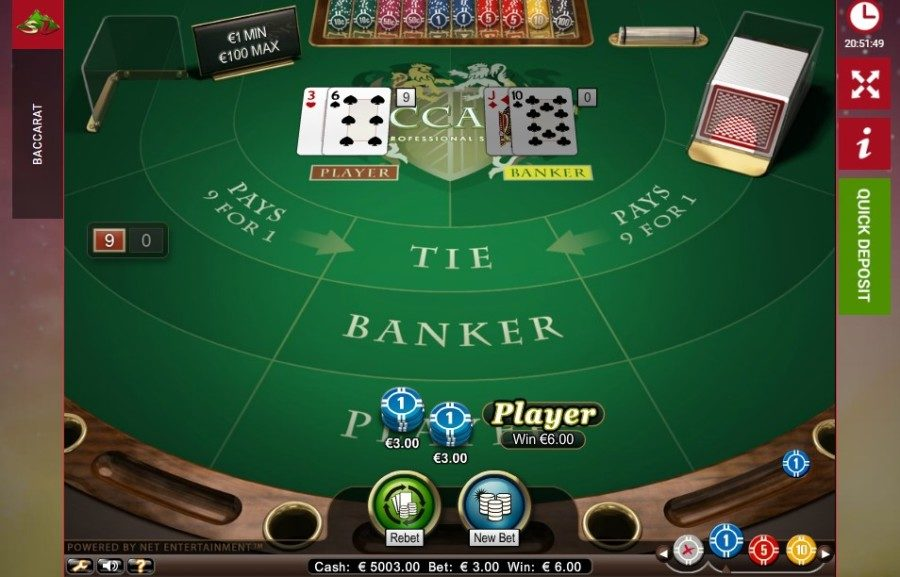 Kasyno online Baccarat