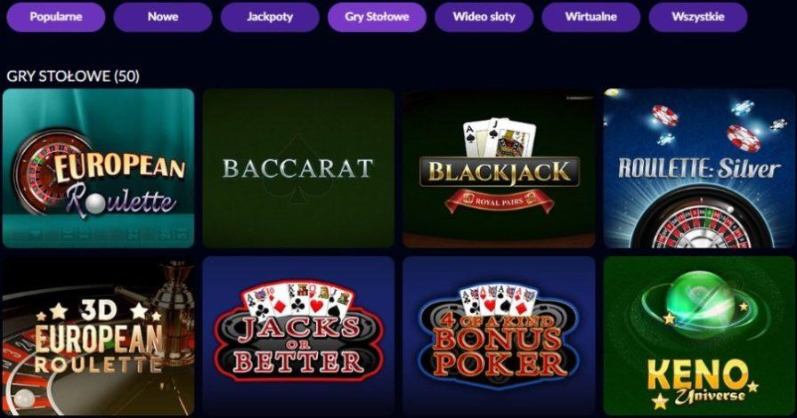 Gry stołowe w kasynie online
