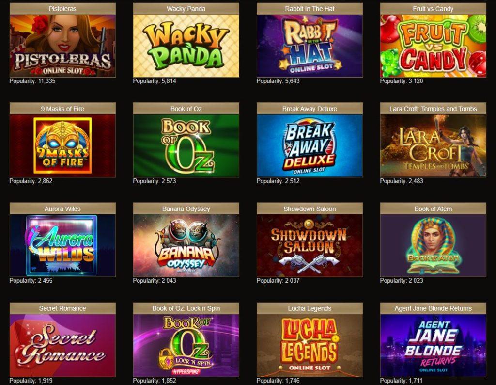 popularne gry pan kasyno